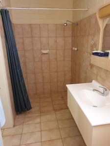 A bathroom at Opal Inn Hotel, Motel, Caravan Park
