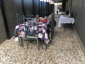 Apartment Fritsche Street tesisinde bir restoran veya yemek mekanı