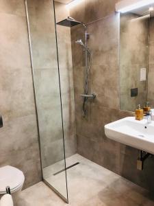 Łazienka w obiekcie Hotel Ines