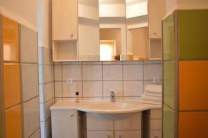 A bathroom at Landpension Oderbruch