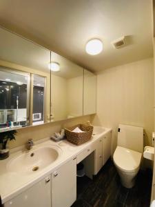 ホテルフリースタイルにあるバスルーム