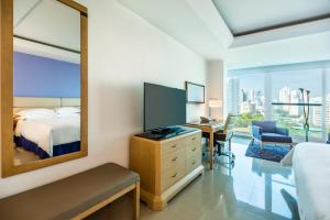 A television and/or entertainment center at Hilton Cartagena