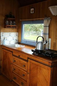 Een keuken of kitchenette bij B&B Dream On Wheels