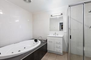 A bathroom at The Henty