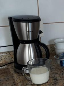 Coffee and tea making facilities at Casa da Praia