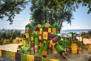 Children's play area at Aminess Maravea Camping Resort Mobile Homes