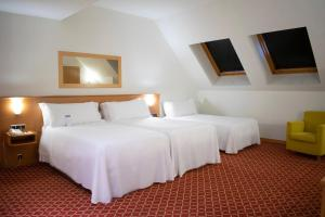 A bed or beds in a room at Tryp Leon Hotel