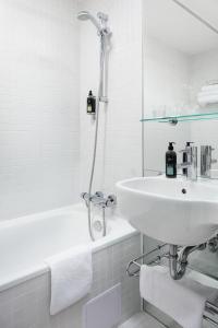A bathroom at Design Metropol Hotel Prague