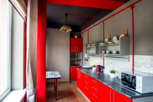 Кухня или мини-кухня в Хостел Философ