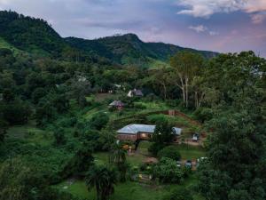 Een luchtfoto van Pakachere Backpackers Lodge