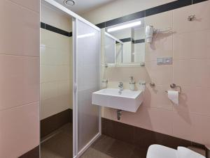 A bathroom at Hotel Prague Star