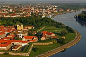 Hotel Osijek с высоты птичьего полета
