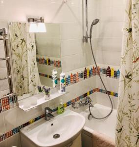 A bathroom at Apartment on Voznesenskaya 107