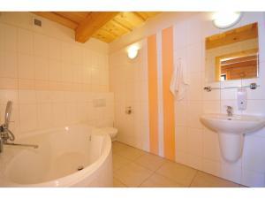 Koupelna v ubytování Apartmánová Chalupa