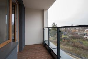 Balkón nebo terasa v ubytování Warsaw To Be - Golden Apartment