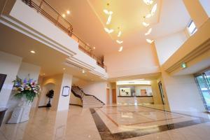 The lobby or reception area at Shiretoko Noble Hotel