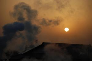 旅館または周辺から見られる日の出または日の入りの景色