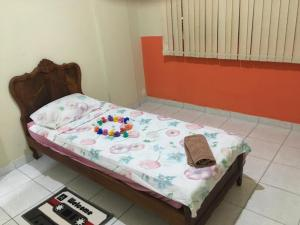 A bed or beds in a room at Flat Hostolla Marssielle