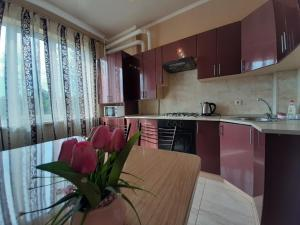 A kitchen or kitchenette at Aartments Kurortnye
