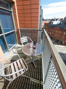 A balcony or terrace at Stay Deansgate Apartments for 14 nights plus