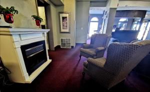 A seating area at The City Motel
