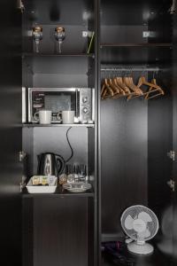A kitchen or kitchenette at Apartment Belveder Brno