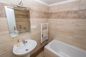 A bathroom at Apartment Belveder Brno