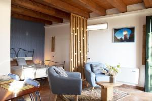 Ein Sitzbereich in der Unterkunft Agriturismo Principe Pio
