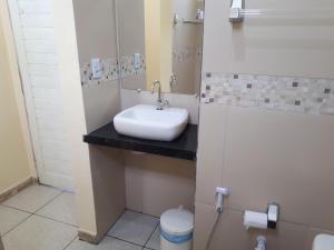 A bathroom at Chalés Canto do Mar