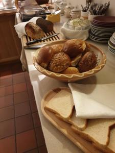 Breakfast options available to guests at Nya Pallas Hotel