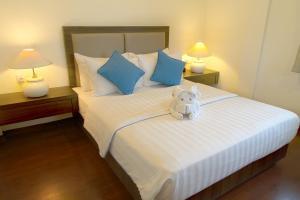 Cama o camas de una habitación en Banyu Biru Villa