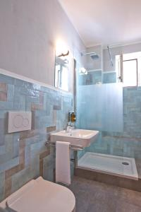 A bathroom at Pension fürDich