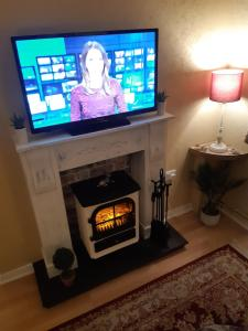 A television and/or entertainment center at Apartment Lucas