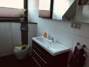 Koupelna v ubytování Ferienwohnung Reichelt