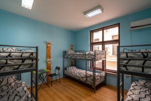 Un ou plusieurs lits superposés dans un hébergement de l'établissement Smart Hostel Sofia