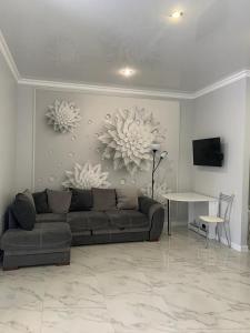 A seating area at Апартаменты, квартира Bellissimo