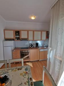 A kitchen or kitchenette at Apartments Lili Flora