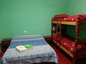 A bunk bed or bunk beds in a room at Hostal Benjamin