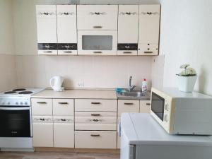A kitchen or kitchenette at Апартаменты Кристалл на Пушкина 12