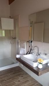 Ein Badezimmer in der Unterkunft Neue Mühle Hotel & Restaurant