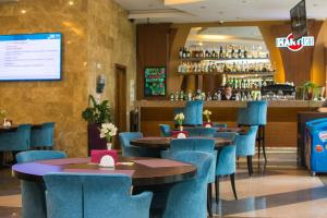 The lounge or bar area at Areal Congress hotel