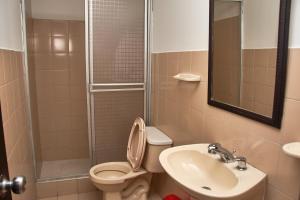 A bathroom at Destino Nomada
