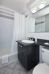 A bathroom at Murray Hill East Suites