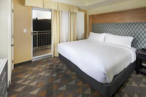 A bed or beds in a room at Holiday Inn Hotel & Suites - Asheville-Biltmore Vlg Area, an IHG Hotel
