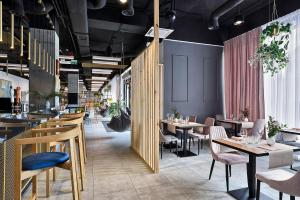 A restaurant or other place to eat at Hotel Arche Geologiczna