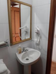 A bathroom at Hotel Casa Madero