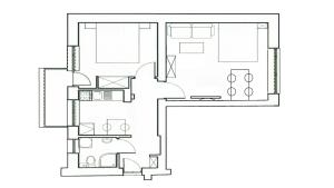 Plan piętra w obiekcie Apartment Katamaran