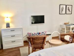 TV a/nebo společenská místnost v ubytování FARMER'S MARKET Apartments Vienna