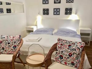 Postel nebo postele na pokoji v ubytování FARMER'S MARKET Apartments Vienna