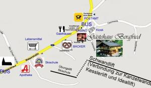 Blick auf Das Bergfried - Urlaub zentral und ruhig! aus der Vogelperspektive